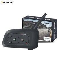 VENTPHONE V4 Wireless Motorcycle Intercom Headphone 1200 BT Multi Interphone helmet bluetooth headset Communicator 4 Riders Moto