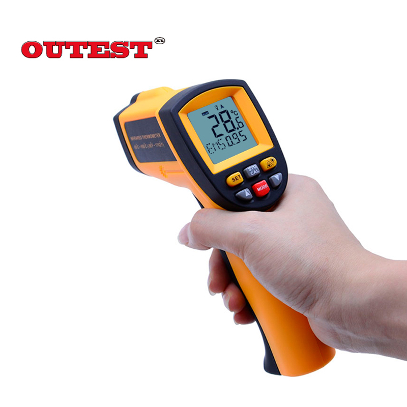 OUTEST Digital thermometer gun non contact infrared thermometer temperature gun ir thermometer industrial GM320~GM900 new digital ir infrared laser non contact infrared thermometer temp gun gm900