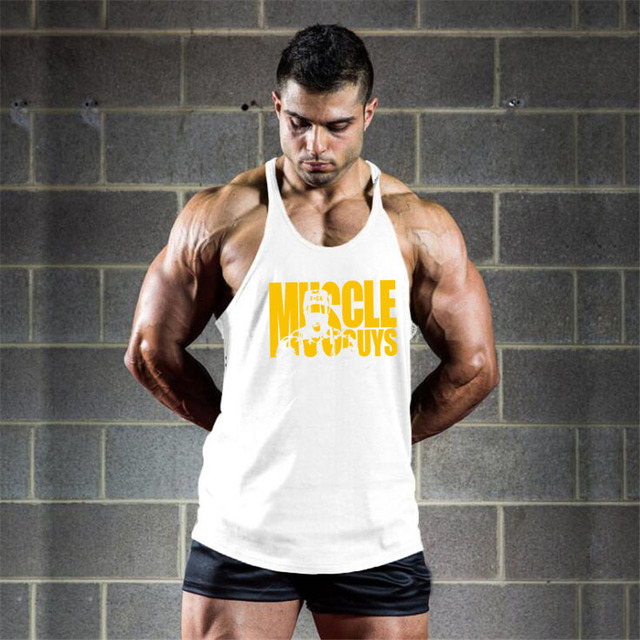 Muscleguys Cotton Gyms Tank Tops Men Sleeveless Tanktops For Boys Bodybuilding Clothing Undershirt Fitness Stringer Vest 1