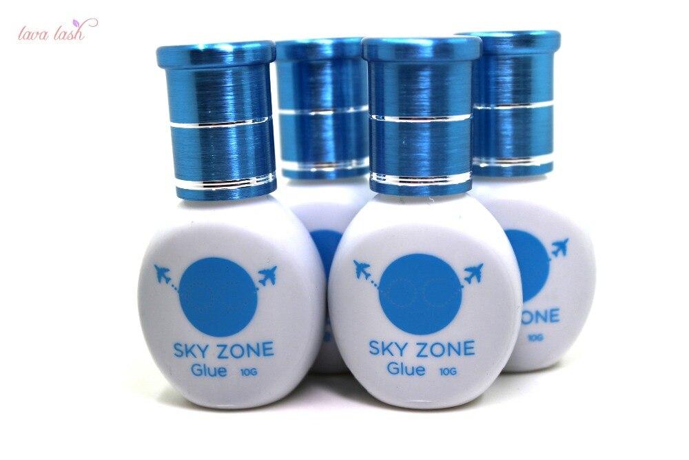 Free Shipping Original Korea 10 bottles/lot Sky Glue Sky Zone Glue Without Sealed Bag For Eyelash Extensions 10ml/bottle
