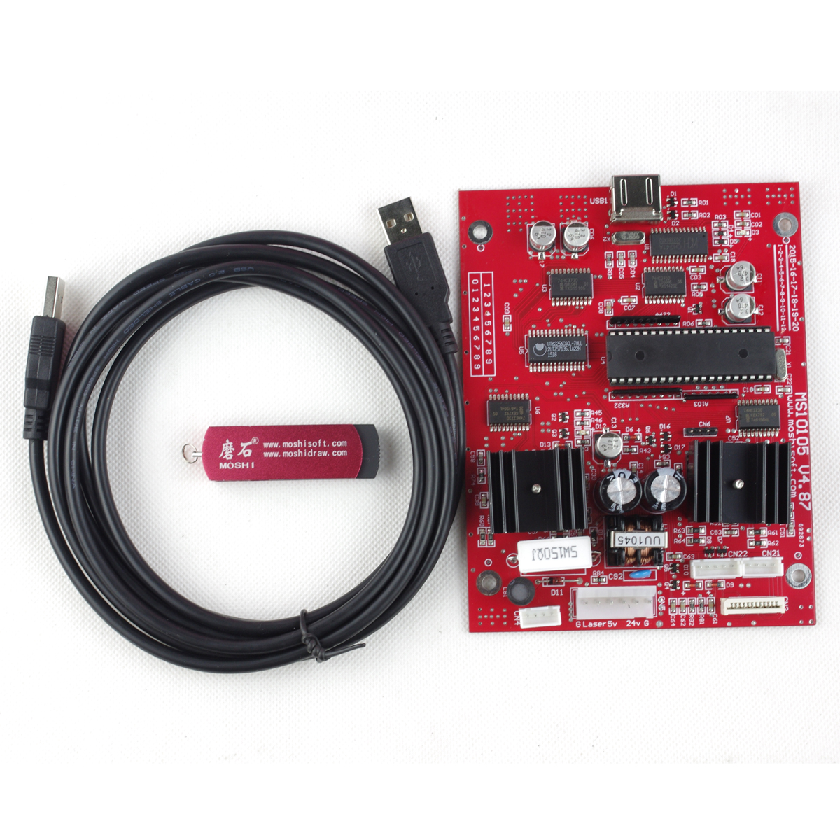 Cutter K40 ms10105 v4.87 Carte Principale + Chinois Logiciel pour Laser Marqueur Traceur Graveur
