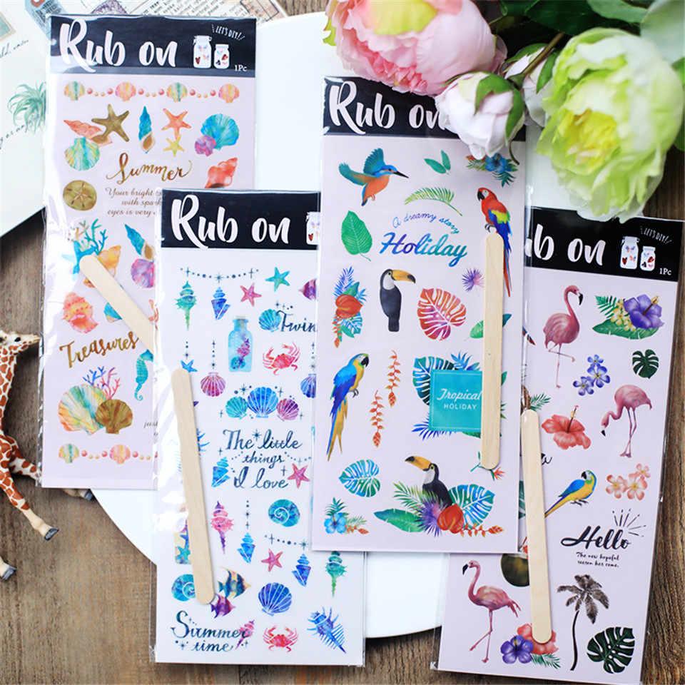 Натрите. Серия Parrot бумажная наклейка s Набор высечки для DIY Скрапбукинг пуля