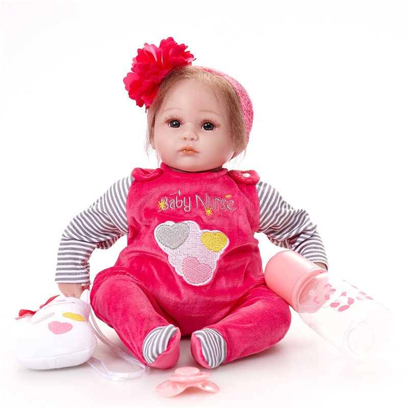 Reborn Baby Doll Bebe Princess Reborn Bonecas Baby Born Clothes Learning Toys Kids SB4506 Reborn Doll For Kid Toy Adora Dolls warkings reborn