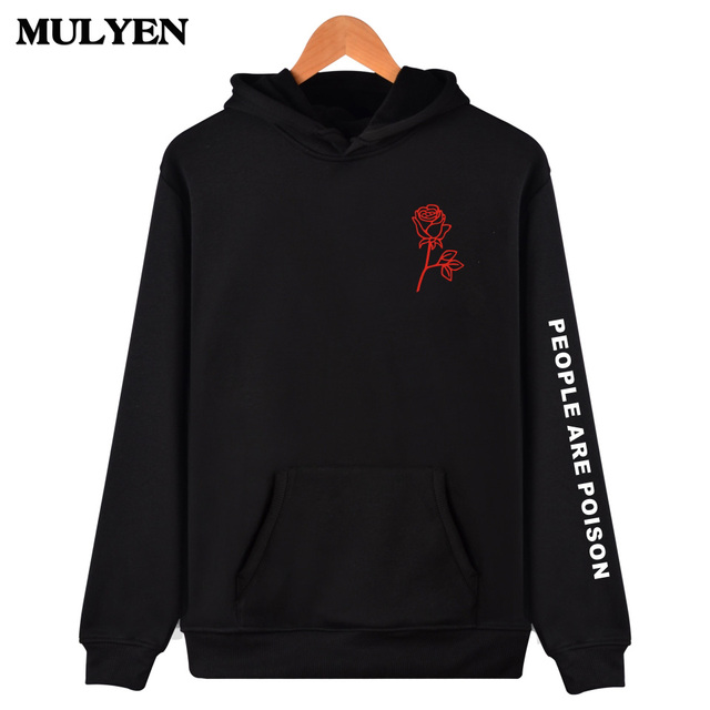 US $14 3 47% OFF|Aliexpress com : Buy New Fashion 2018 Summer Latest Hip  Hop People Are Poison Rose Print Hoodies High Quality Men Women Unisex  Hooded