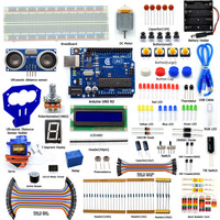 Adeept Arduino Starter Kit For Arduino UNO R3 Ultrasonic Distance Sensor Servo With Guidebook LCD1602 Breadboad