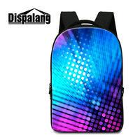 Dispalang Casual Women Laptop Backpack Lighting Printing School Bag For Mens Youth Bagpack For Teenagers Male