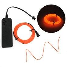 1 м/2 м/3 м/5 м неоновый светильник для танцевальной вечеринки, декоративный светильник, неоновый светодиодный светильник, Гибкая EL Wire Rope Tube, водонепроницаемая светодиодная лента с контроллером