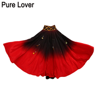 FEECOLOR Gradation Dancing Skirt Gold coin Tribal dance wear spanish performance Costume for women vestido flamenco plus Size