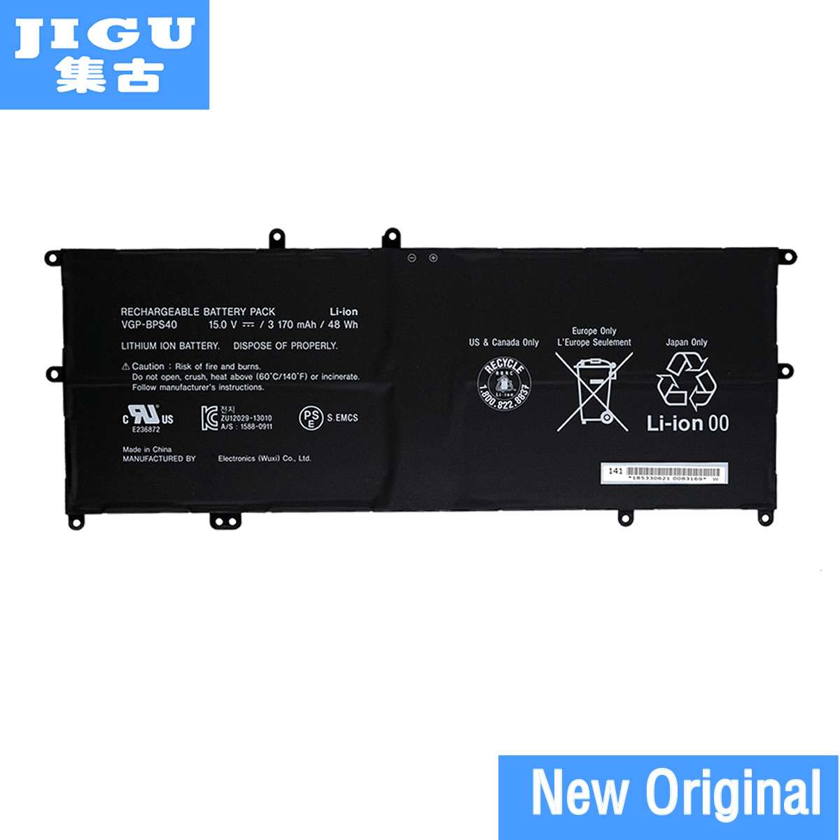 JIGU VGP-BPS40 Original Laptop Battery For SONY For VAIO Fit 14A 15A SVF14N SVF15N Series 15V 3170MAH brand new laptop parts for sony for viao svf14 svf14n svf15 svf15n series touchpad and ffc cable