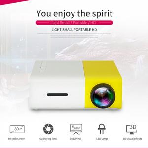 Image 2 - YG300 Universal 60 Inch HD Battery Operated Portable Mini LED Pocket Projector Home Theater Children Education Beamer Projetor