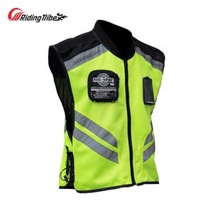 Image 3 - Motorcycle Jacket Reflective Vest High Visibility Night Shiny Warning Safety Coat for Traffic Work Cycling Team Uniform JK 22