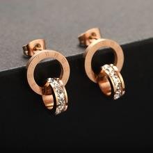 Модные ювелирные изделия Двойные серьги женские с квадратным