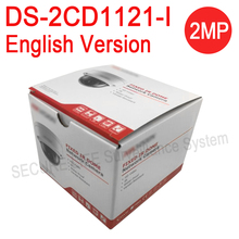 English version DS-2CD1121-I replace DS-2CD2125F-IS, DS-2CD2132F-IS 2MP mini Dome ip security Camera, mini POE CCTV Camera