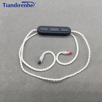 DIY Earphone Bluetooth Cable for Audio Technica ATH IM04 IM03 IM02 IM01 IM50 IM70 Headset Line Silver Plate Line Wire with Mic