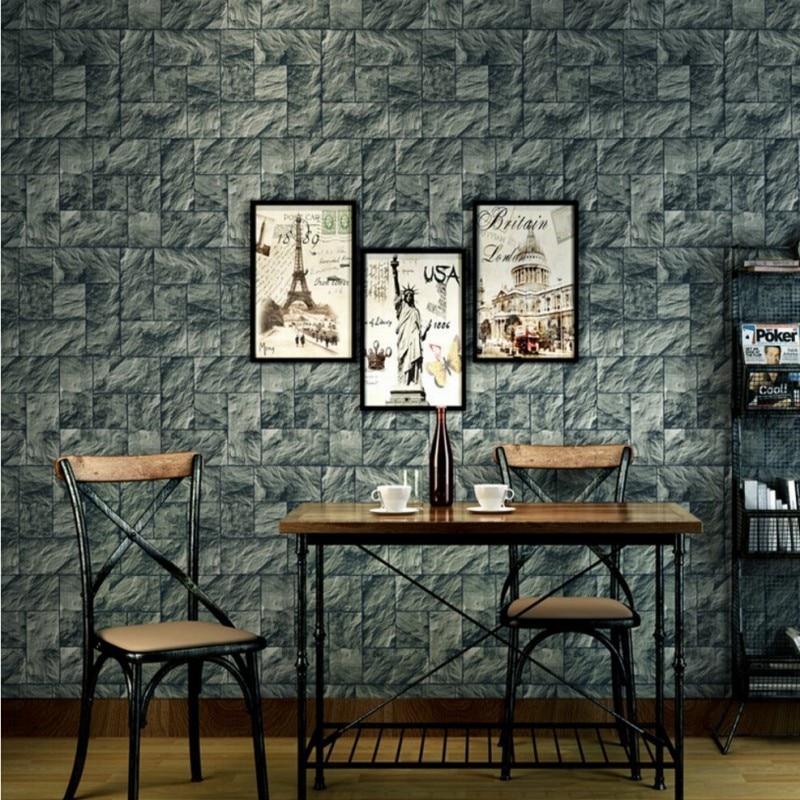 ФОТО  Beibehang  Jane retro atmosphere nonwoven wallpaper living room wallpaper background wallpaper pattern brick hotel coffee shop