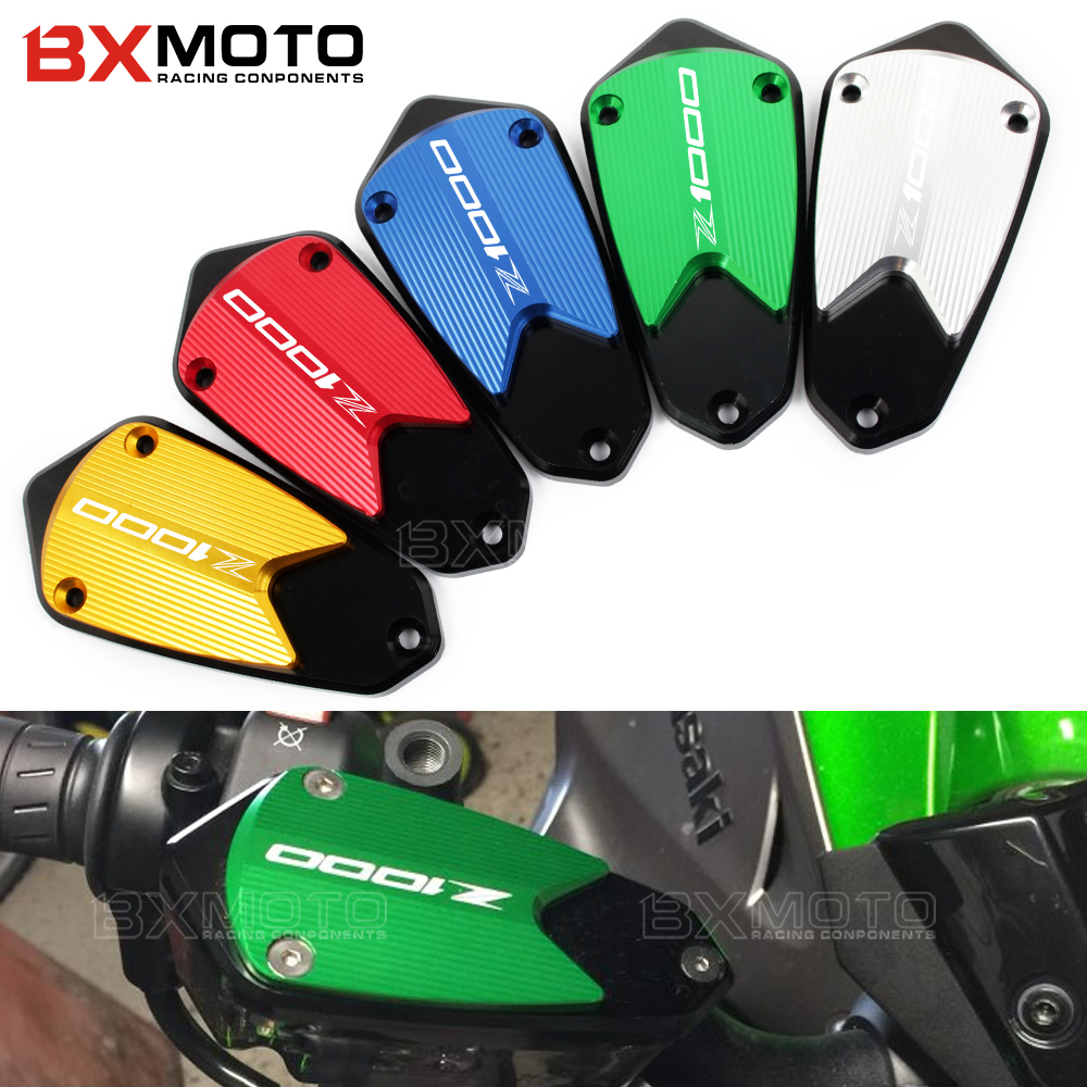 CNC Motorcycle Aluminum Front Brake Fluid Fuel Reservoir Tank Cap Cover For kawasaki Z1000 Z 1000  2010 2012 2013 2014 2015 motorcycle cnc front brake reservoir fluid cap cover for kawasaki z250 z750r 11 15 z1000 10 15 gtr1400 07 15
