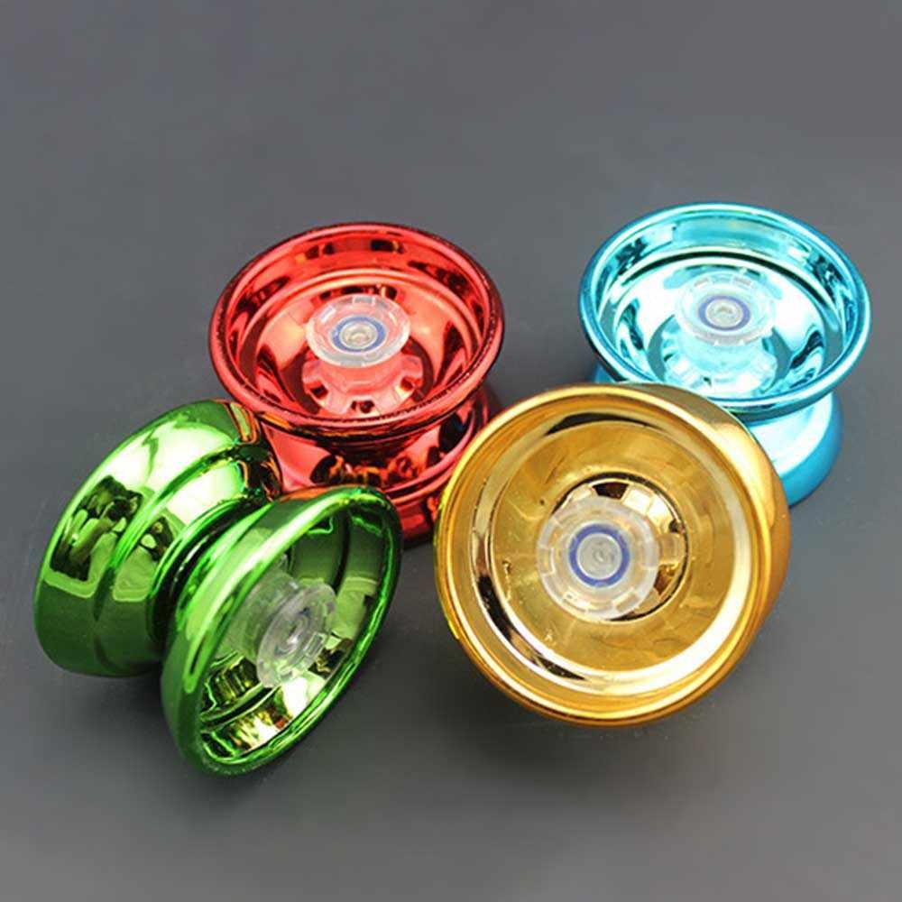 Yoyo mágico de 4 colores con torno CNC yo-yo de aleación de aluminio de alta velocidad con cadena giratoria para niños, niñas y niños