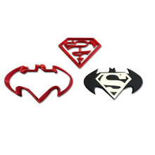 Super Hero Character Bat Cookie Cutter Custom Made 3D Printed Batman Face Fondant Cupcake Top Set Kitchen Tool