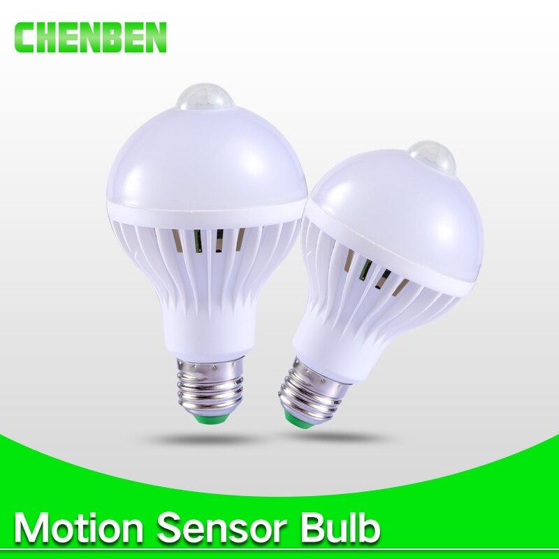 Smart Led Ampoule E27 PIR Motion Sensor Lampe 5 W 7 W 9 W Auto Automatique Bombilla PIR Infrarouge Corps Lampe Radar Capteur Sonore Lumières 220 V