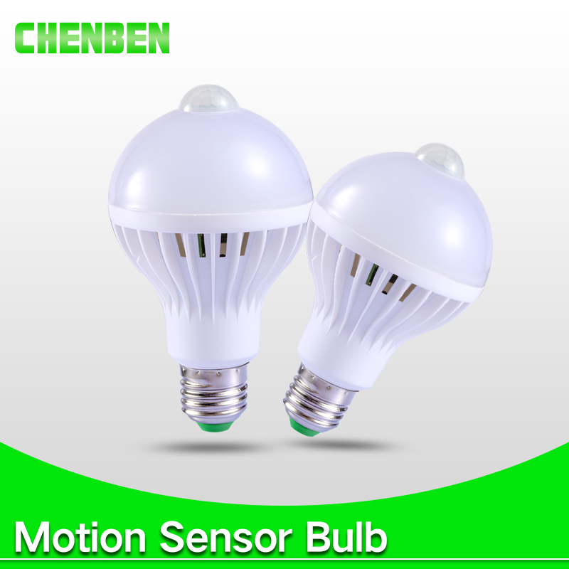 Smart Led Bulb E27 PIR Motion Sensor Lamp 5W 7W 9W Auto Automatic Bombilla PIR Infrared Body Lamp Radar Sound Sensor Lights 220V new motion sensor led night light 110 240v 1 5w pir led stair lamp infrared human body induction lamp led step lights toilet