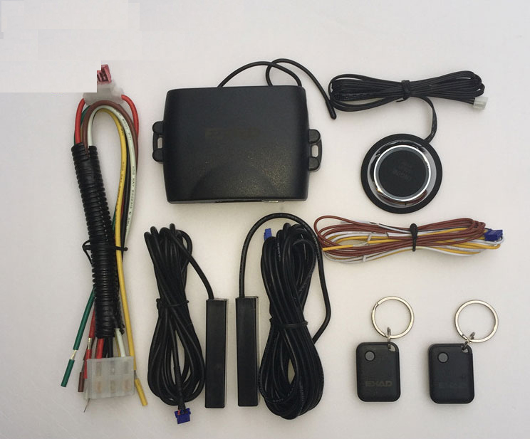 Universal PKE Car Alarm System Keyless Entry Start Security Built Function Push Remote Central Lock Auto Start Stop For Volks easyguard pke car alarm system remote engine start stop shock sensor push button start stop window rise up automatically