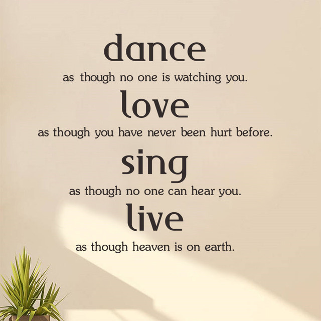 Window Quotes Interesting Dance Love Sing Live Quotes Family Lettering Words Wall Sticker