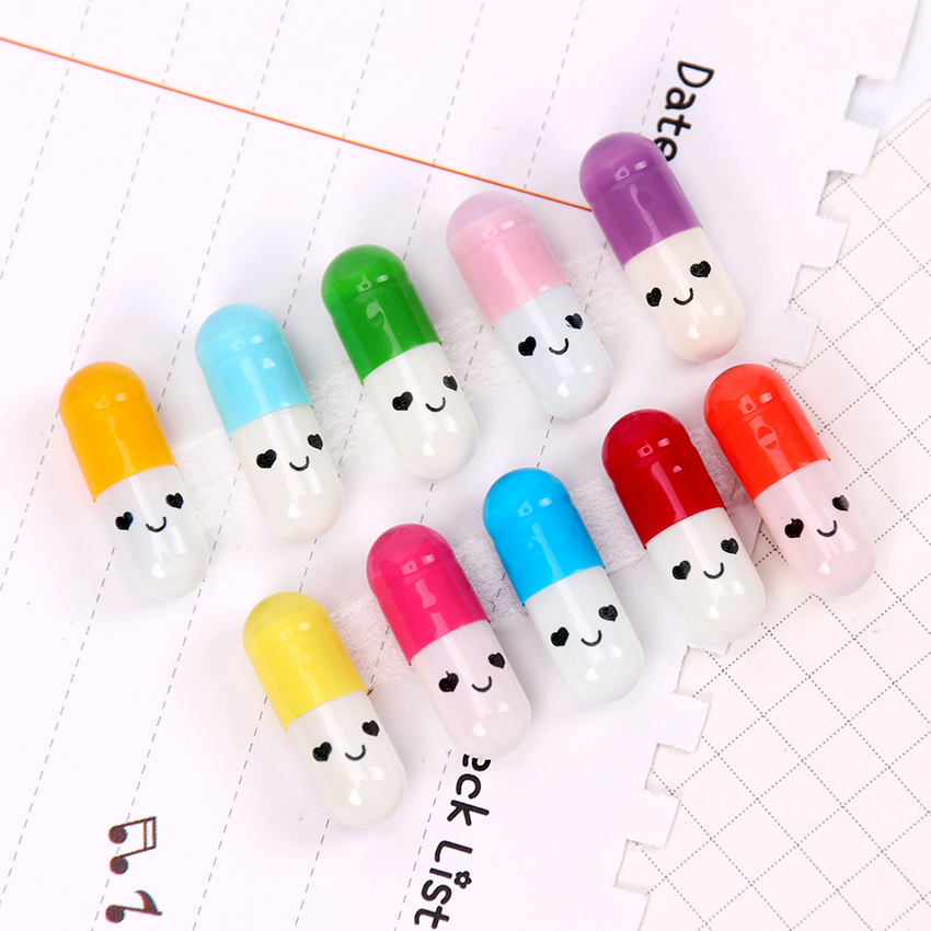 50PCS Kawaii Mini Message Capsule Couple Love Blank Message Letter Paper Children Writing Paper Novelty Colorful Gift Stationery