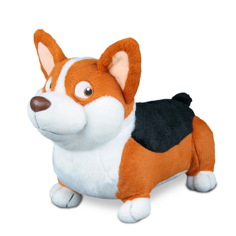 Baby Cartoon Plush Toys Soft Animal Simulation Dog Stuffed Toy Corgi Almofadas Kawaii Plush Oyuncak Bebek Gifts Children 60G0672 60cm cute soft stuffed plush toy animal farm cartoon pink pig doll brinquedos menina toys for children oyuncak bebek 50g0222