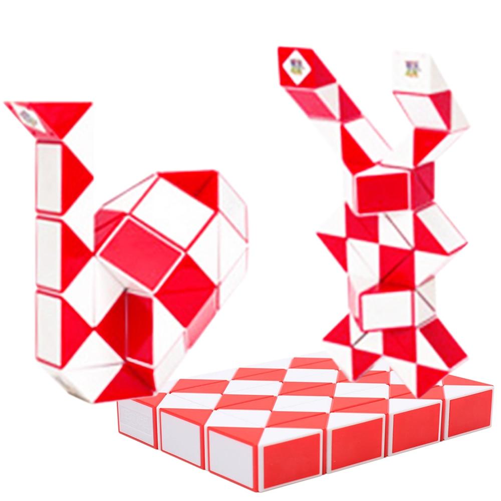 Magic Cubes 100% True 48 Parts Magic Snake Cubes Toy For Kids Children Boys Xinlexin 1*3*4 One Layer Puzzle Cube Cubos Megico