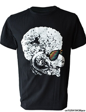 64621b53769 Gildan Gildan Fashion t-shirt funky disco Afro Ram Sheep plastic shades  Men s T-