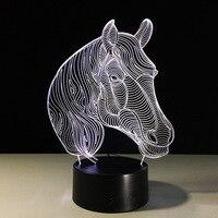 Jazda Światło Nocne Led USB Nowości Prezenty 7 Kolory Zmieniające Się Zwierząt 3D LED Biurko Lampa Stołowa w Dekoracji Wnętrz Najniższy Koszt Spadek statek