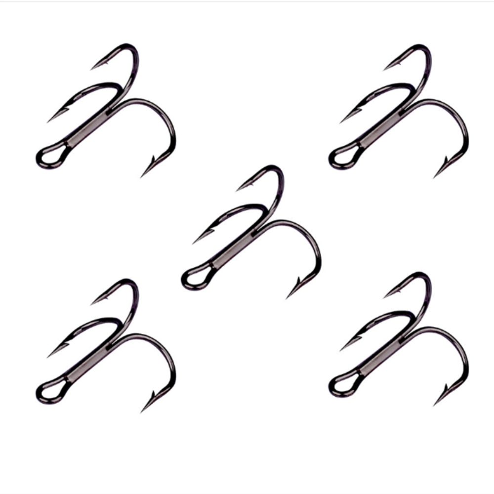 10Pcs/lot Super Sharp Fishing Hooks 2/4/6/8/10 Artificial Black High Carbon Steel Hooks Lure Bait Hook Fishing Tackle