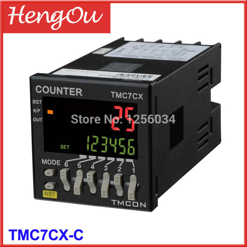 1 piece TMC7CX intelligent digital counter, TMC7CX-C 1 piece tmc7cx counter 6 digits tmc7cx cwp preset counter electronic counter