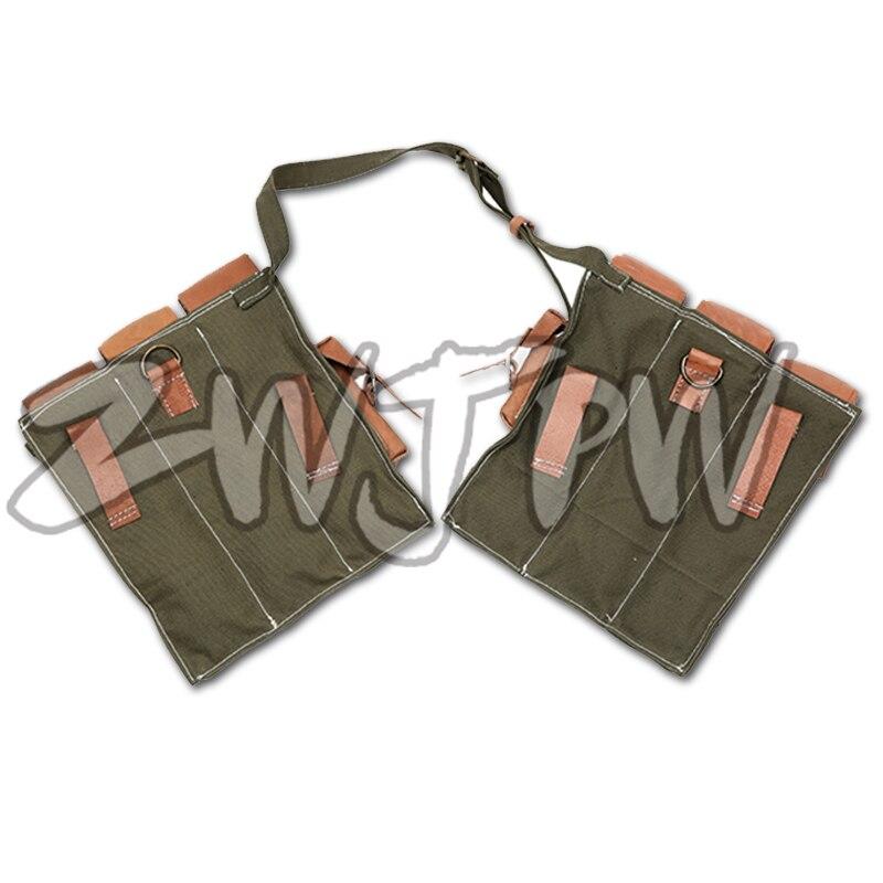 WW2 WWII Ordu Walther MP44 Canvas Bir sursat Çantası Kartric - Komanda idman növləri - Fotoqrafiya 2