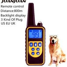 Электрический ошейник для дрессировки собак 800 м устройство дистанционного управления для домашних животных дисплей с подсветкой водонепроницаемый перезаряжаемый ударный ошейник Скидка 40