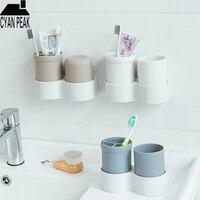 Badezimmer Zubehör Set Reise Zahnbürste Tasse Set Lagerung Box Zahn Bad Pinsel Set Waschen Liefert Hause Fall Freien
