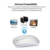 3.0 bluetooth mouse para macbook air pro, apoyo win10/mac os ordenador ratón inalámbrico recargable mute silent inteligente ratón