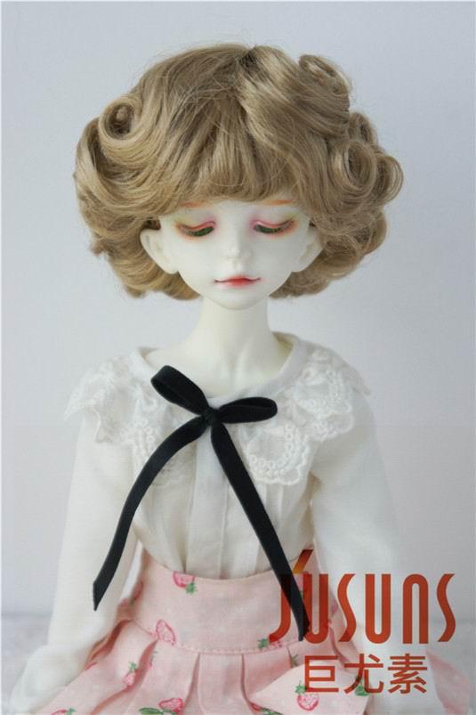JD369 1/4 MSD парики для шарнирных кукол модный кудрявый парик 7-8 дюймов BJD синтетический, мохеровый, для куклы парики кукольные аксессуары - Цвет: Brown SM4B