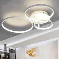 Nova chegada círculo anéis designer moderno led luzes de teto lâmpada para sala estar quarto controle remoto lâmpada do teto luminárias