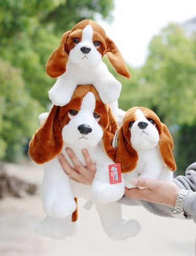 Candice guo plush toy stuffed doll cute long ear dog puppy doggie pillow model animal simulation birthday gift christmas present 45cm cute dog plush toy stuffed cute husky dog toy kids doll kawaii animal gift home decoration creative children birthday gift