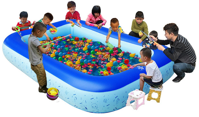 2017 Inflatable Fishing Pool Swimming Eco Friendly Portable Children Tub Kids Mini Playground