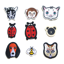 DIY Animal Embroidery Cloth Patch Childrens Clothing Jacket Decoration Ladybug Cat Customization D-015