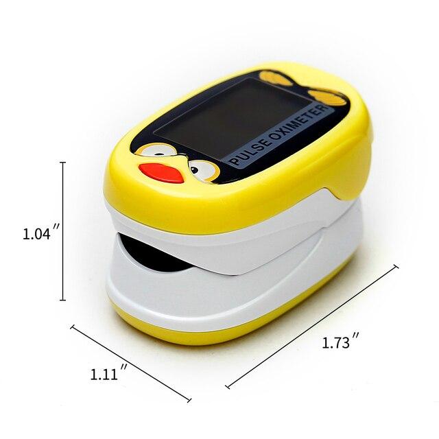 +Battery Children Kids Finger Pulse Oximeter for Pediatric Child oximetro Pulsoximeter SPO2 PR Cute Design for Chindren 4