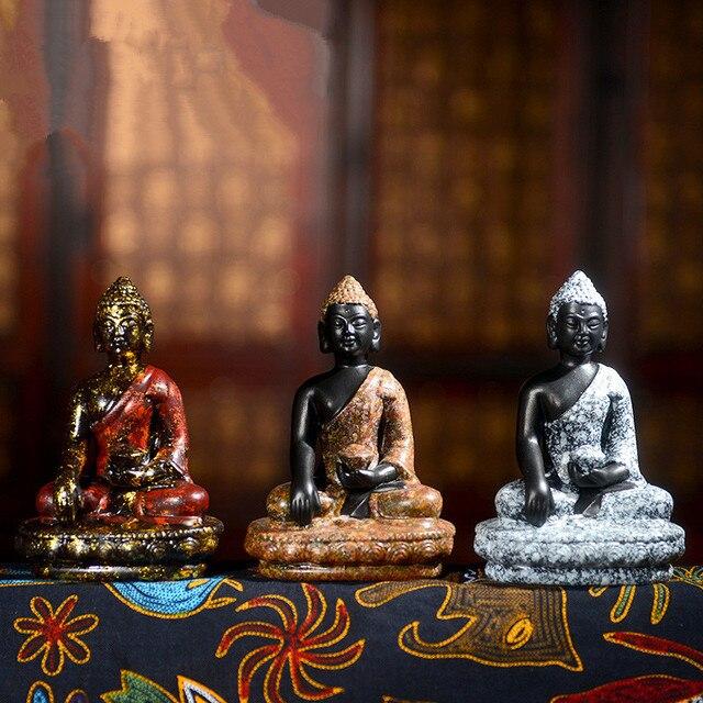 Céramique Griotte Figure De Bouddha Chinois Bouddhisme Statue