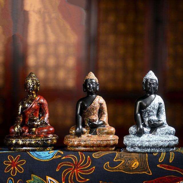 Ceramics Griotte Figure Of Buddha Chinese Buddhism Statue Indian Maitrega Fengshui Buddhist Decor Decoration Home