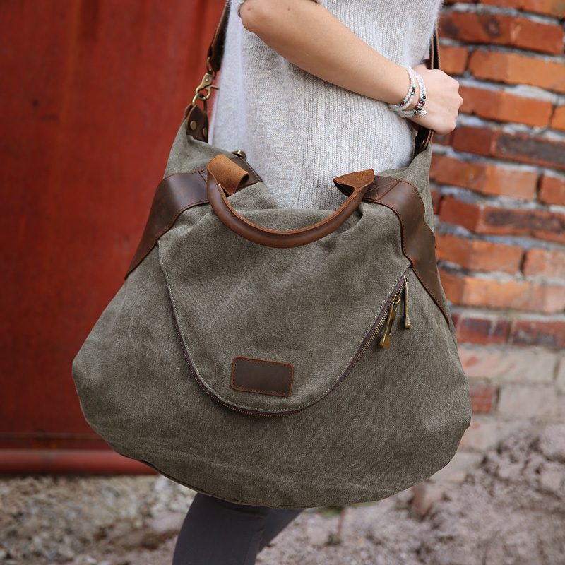 b31f5f8f647dc 2019 FREE SHIPPING large pocket casual women's handbag shoulder cross body  handbags canvas leather large capacity bags for women-in Shoulder Bags from  ...
