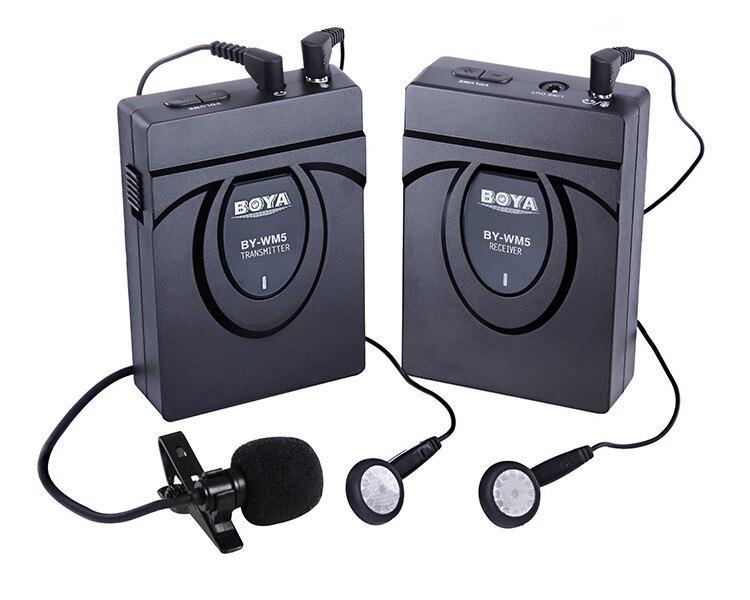 Original BOYA BY-WM5 Wireless Lavalier Microphone Microphone System BY-WM5 for Canon Nikon DSLR Camera digital videographers  boya by wm5 dslr camera wireless lavalier microphone recorder system for canon 6d 600d 5d2 5d3 for nikon d800 forsony dv camcord