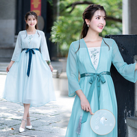 Chinese Ancient Fairy Cosplay Costumes National Hanfu Lady summer Korean dance dress Traditional Oriental Clothing For Women