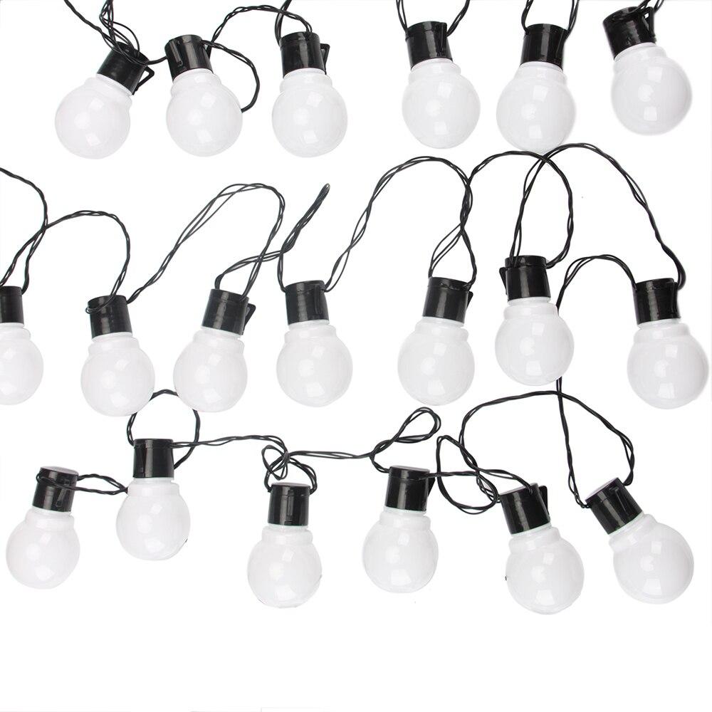 10 m 38 Led Globe chaîne lumière extérieure fée lumières guirlande G50 ampoules jardin Patio fête de mariage décoration de noël chaîne lumineuse