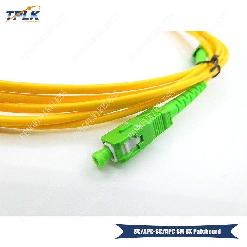 40 шт./лот SC-APC симплексный одномодовый 2 м SC/APC-SC/APC патчкорд из оптического волокна LSZH